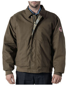 Walls® Flame Resistant Oilfield Camo Insulated Bomber Jacket - SADDLE BROWN (SD9)