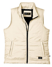 Women's Performance Quilted Vest - ANTIQUE WHITE (AW)