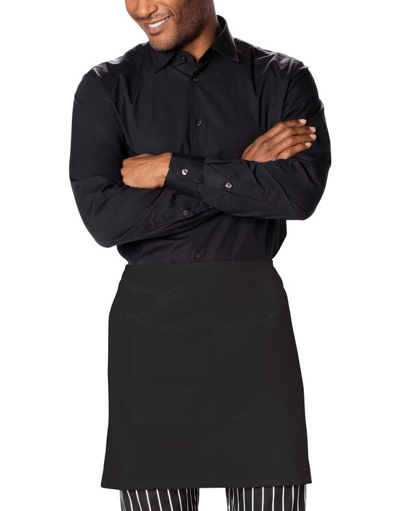 Unisex Waist Tie Half Bistro Apron with 2 Pockets - BLACK-LICENSEE (BLK)
