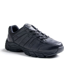 Men's Slip Resisting Athletic Lace Work Shoes - Black (FBK) - Licensee (FBK)