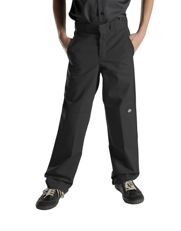 Boys' FlexWaist® Relaxed Fit Straight Leg Double Knee Pant, 4-7 - BLACK (BK)