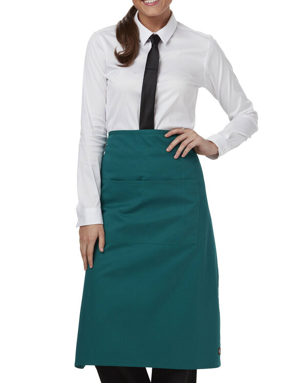 Unisex Full Bistro Waist Apron with 2 Pockets - HUNTER (HTR)
