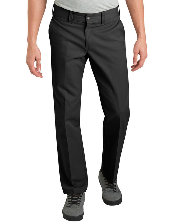 Dickies '67 Slim Fit Straight Leg Industrial Work Pant - BLACK (BK)