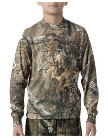 Walls® Youth Hunting Long Sleeve Pocket Tee - REAL TREE XTRA (AX9)