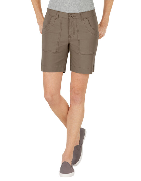 "Women's 7"" Relaxed Fit Ripstop Utility Short - RINSED PEBBLE BROWN (RNP)"