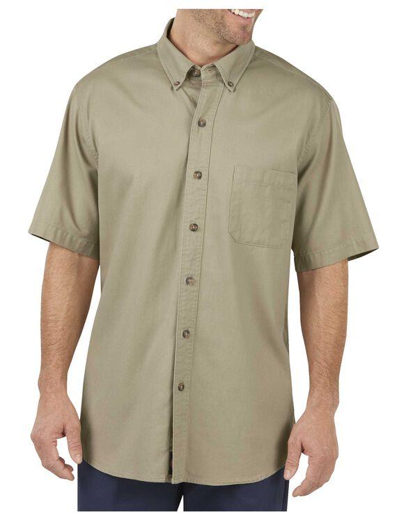 Short Sleeve Twill Performance Shirt - RINSED DESERT SAND (RDS)