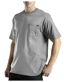 Short Sleeve Pocket Tee with Wicking - HEATHER GRAY (HG)