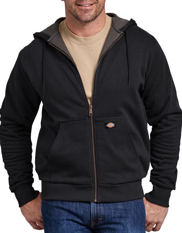 Veste doublée thermique à capuchon - Noir (BK)