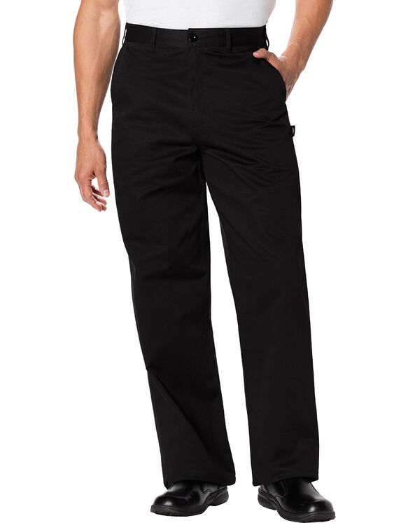 Men's Classic Dress Chef Pant - BLACK-LICENSEE (BLK)