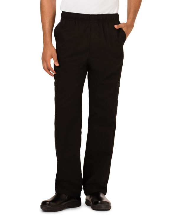 Men's Cargo Pocket Chef Pant - BLACK (BLK)