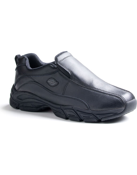 Men's Slip Resisting Athletic Slip-On Work Shoes - Black (FBK) (FBK)