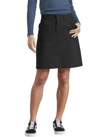 Women's Stretch Twill Skirt - BLACK (BK)