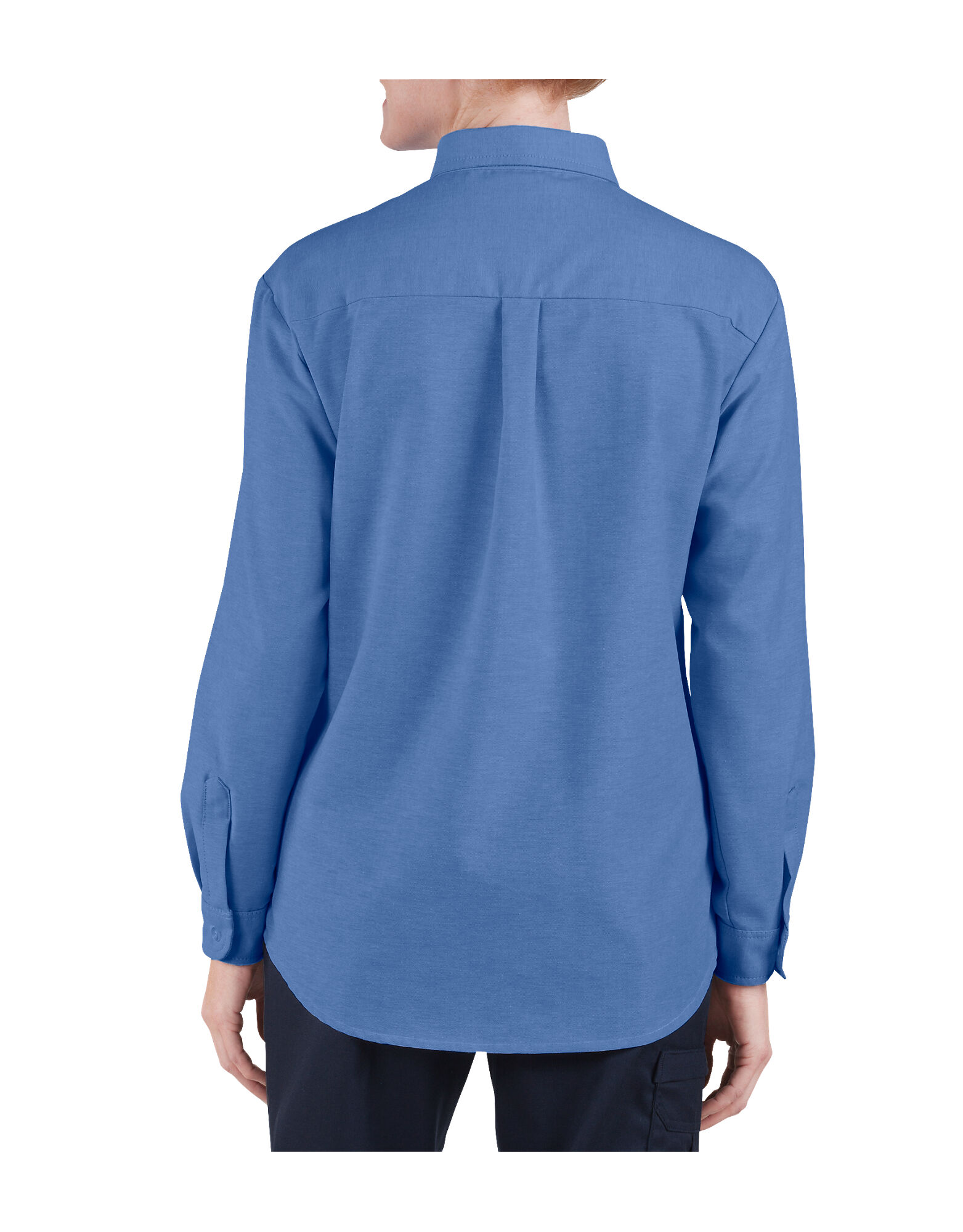 Women 39 s button down oxford shirt long sleeve womens for French blue oxford shirt