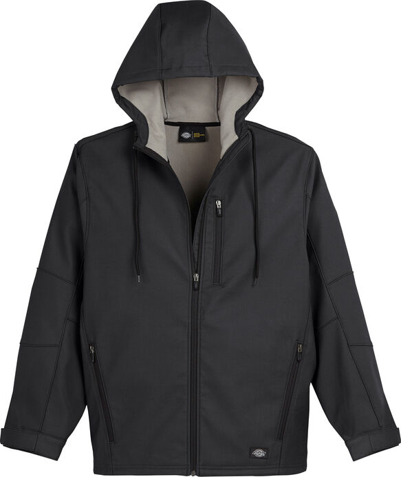 Performance Flex Bonded Canvas Softshell Jacket with Hood - BLACK (BK)