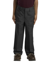Boys' Classic Fit Straight Leg Flat Front Pant, 4-7 - BLACK (BK)