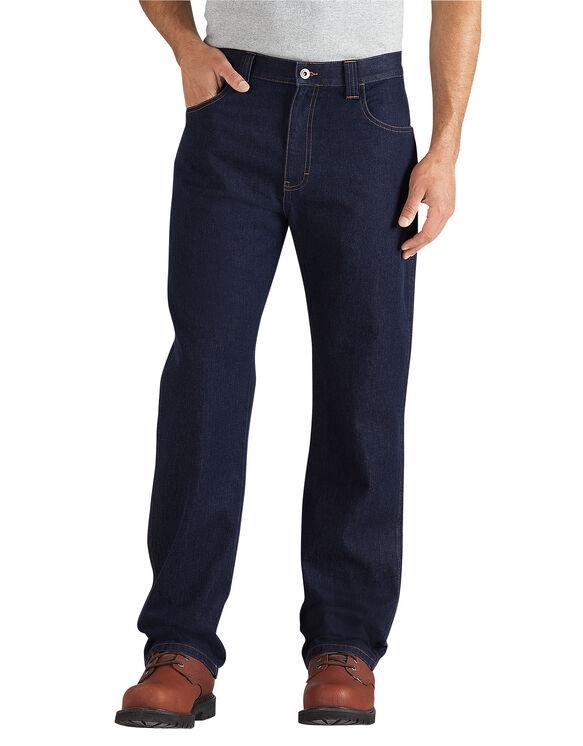 Regular Fit Straight Leg 5-Pocket Denim Jean with Cordura - RINSED INDIGO BLUE (RNB)
