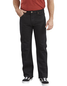 Regular Straight Fit 6-Pocket Denim Jean - RINSED OVERDYED BLACK (RBB)