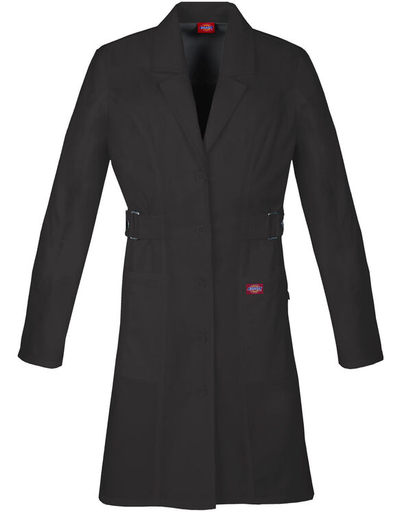 "Women's Junior Fit Gen Flex 36"" Lab Coat - BLACK-LICENSEE (BLK)"
