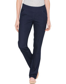 Women's Modern Fit Straight Leg Stretch Pull-On Denim Jean - RINSED INDIGO BLUE (RNB)