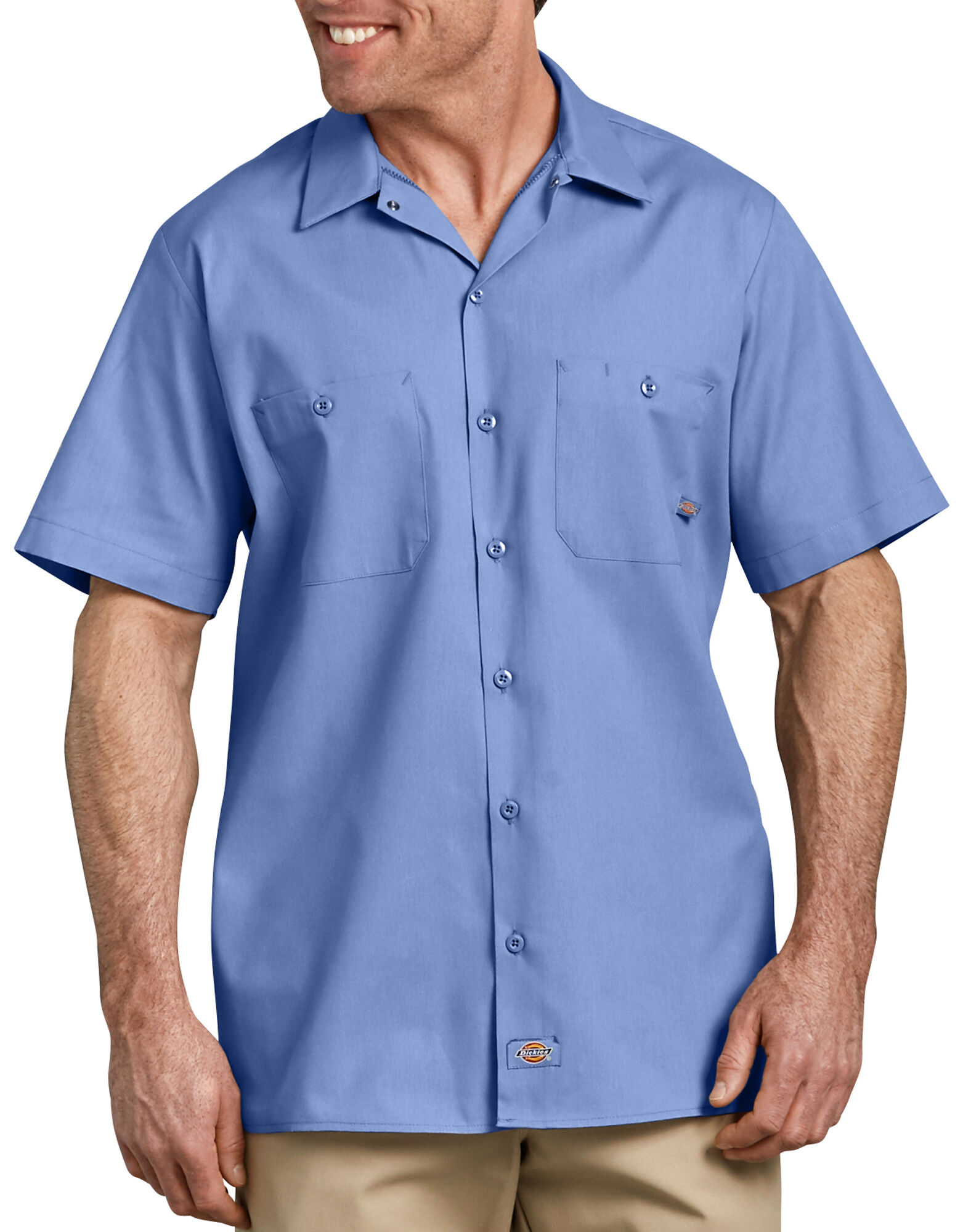 short sleeve industrial work shirt mens shirts dickies. Black Bedroom Furniture Sets. Home Design Ideas