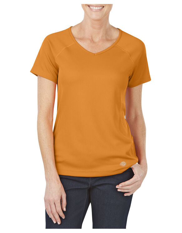 Women's Performance V-Neck Tee - MANDARIN (AN)