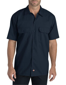Flex Relaxed Fit Short Sleeve Twill Work Shirt - DARK NAVY (DN)