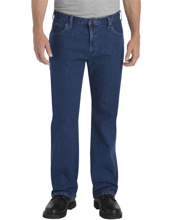 FLEX Relaxed Fit Straight Leg 5-Pocket Denim Jean - FLEX RINSED INDIGO (FRI)