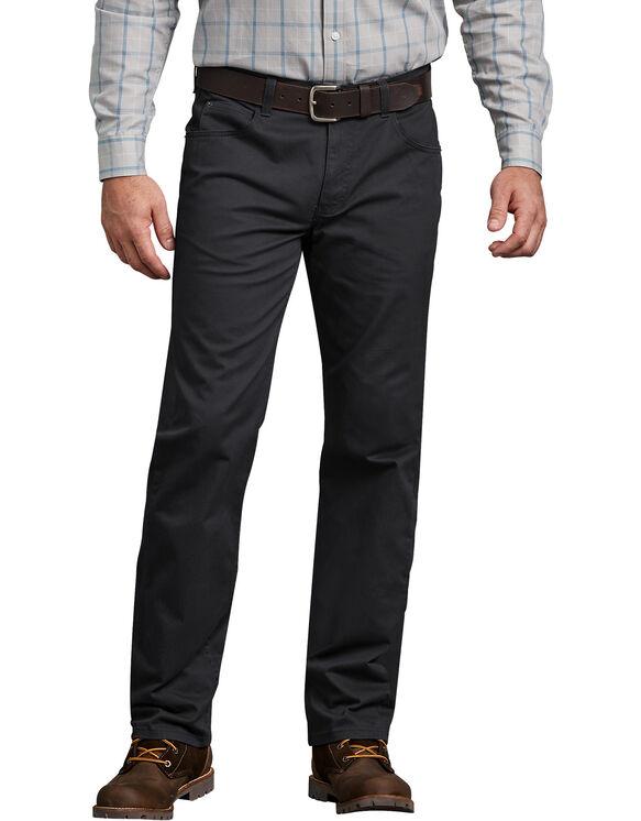 FLEX Regular Fit Straight Leg 5-Pocket Pant - RINSED BLACK (RBK)