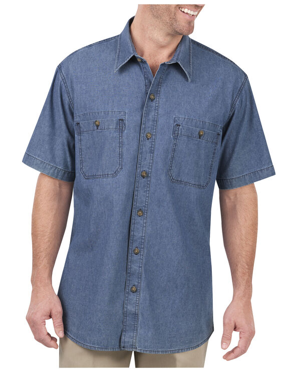 Short Sleeve Chambray Shirt - RINSED DARK INDIGO CHAMBRAY (RDDC)