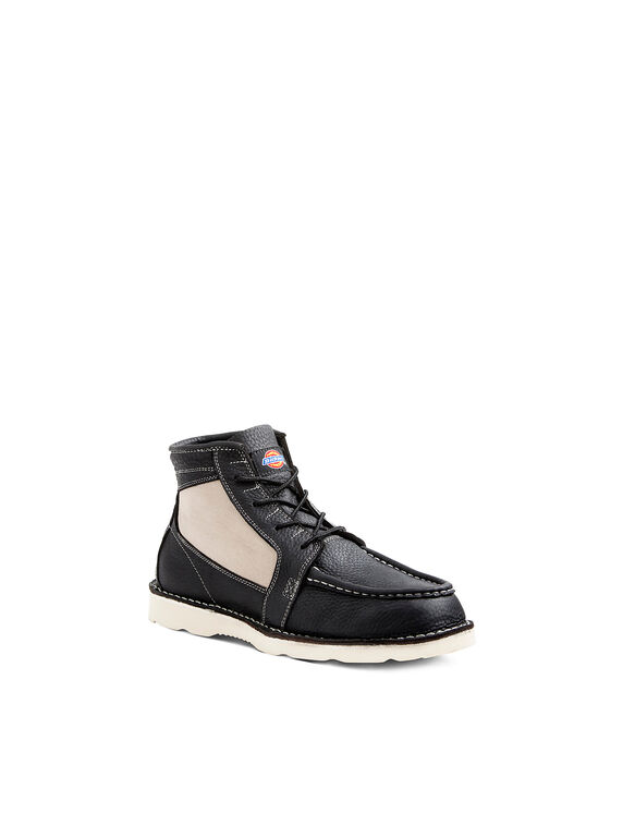 Men's Reed English Moc Toe Boots - BLACK-LICENSEE (BLK)