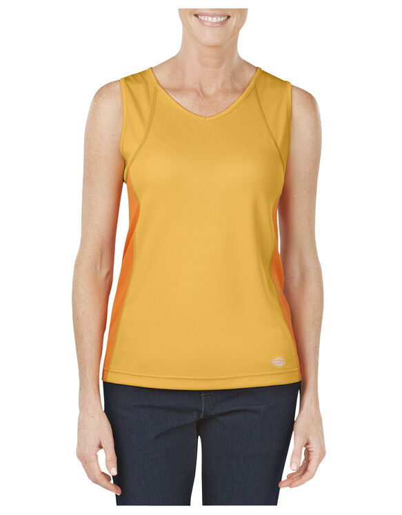 Women's Performance Two-Tone Tank - MARIGOLD (AD)
