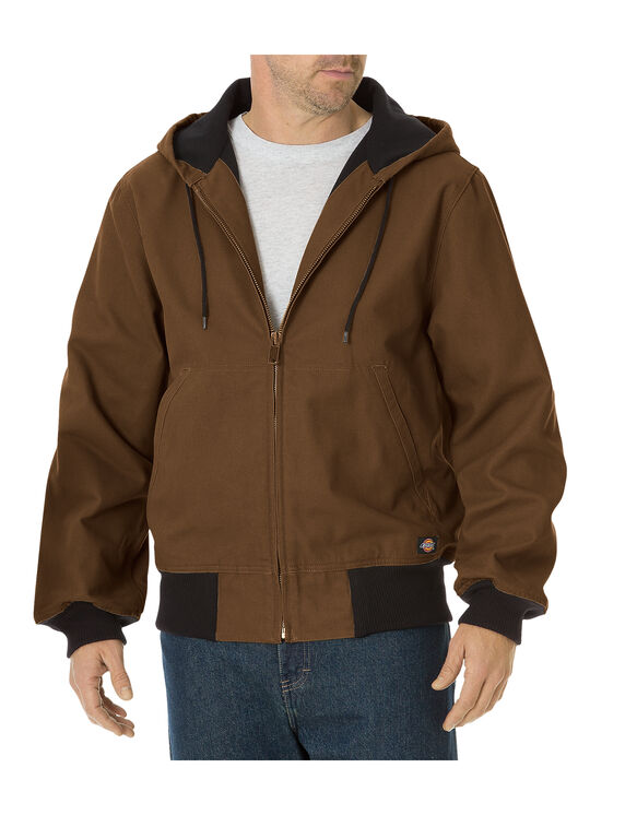 Sanded Duck Thermal Lined Hooded Jacket - TIMBER BROWN (TB)