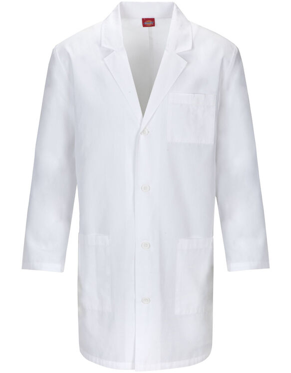 "Unisex EDS 37"" Lab Coat with Certainty PLUS™ - WHITE (WH)"