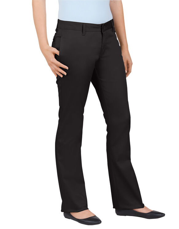 Dickies Girl Juniors Original Fit Lowrider Straight Leg Pant - BLACK-LICENSEE (BLK)