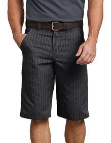 "13"" Regular Fit Shadow Stripe Short - BLACK (BK)"