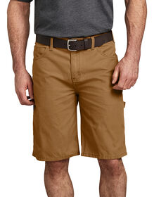 "11"" Relaxed Fit Lightweight Duck Carpenter Short - RINSED BROWN DUCK (RBD)"