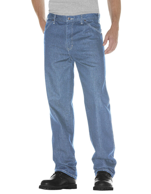 Relaxed Straight Fit 5-Pocket Denim Jean