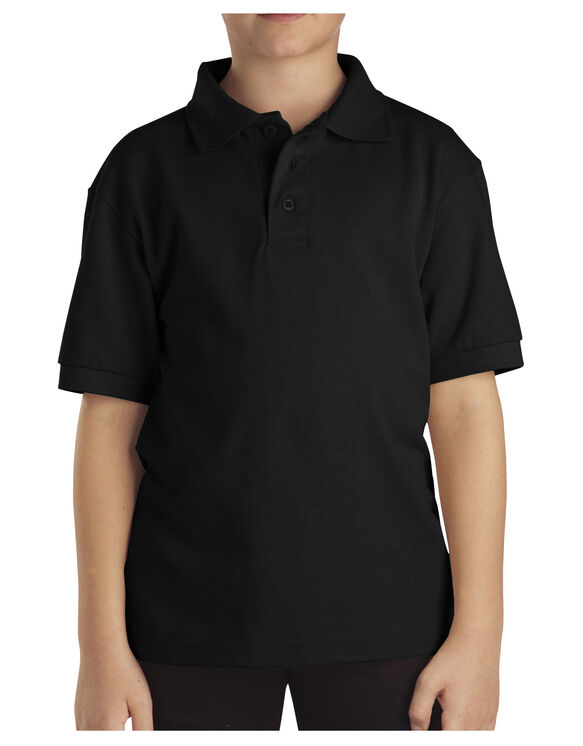 Kids' Short Sleeve Pique Polo Shirt