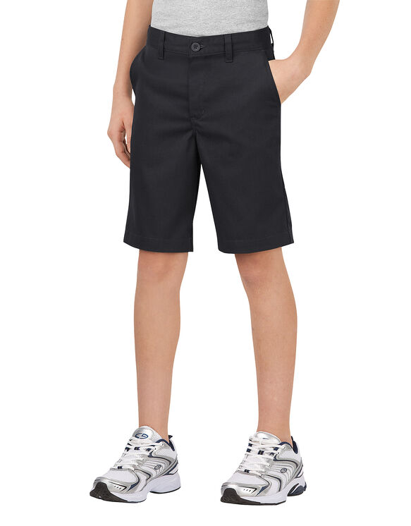 Boys' FlexWaist® Classic Fit Ultimate Khaki Short, 8-20 - BLACK (BK)