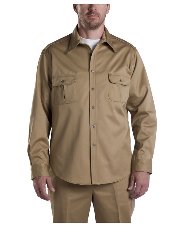 Dickies 1922 Long Sleeve Shirt - CRAMERTON SUN TAN (AS)