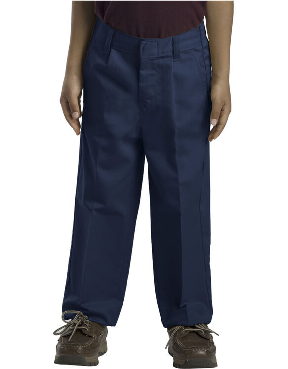 Boys' Classic Fit Straight Leg Pleated Front Pant, 8-20 Husky - DARK NAVY (DN)