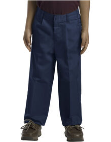 Boys' Classic Fit Straight Leg Pleated Front Pant