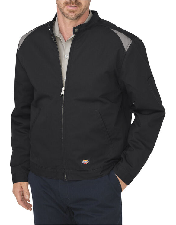 Industrial Insulated Color Block Shop Jacket - BLACK/SILVER (BKSV)