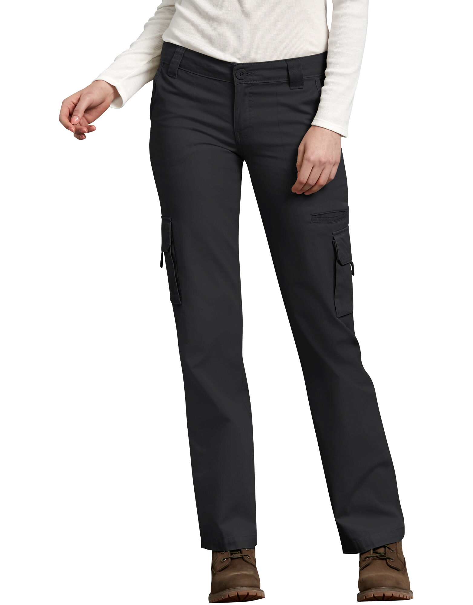 The fun prints of women's cargo pants allow you to mix and match pieces for a unique look that is tailored to your curves. Boyfriends skinny pants are great for playing up your look with edgy style. Add your pretty heels for a stylish ensemble for shopping with your girlfriends.
