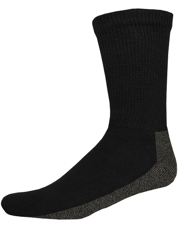 Non-Binding Crew Socks, Size 6-12 - BLACK (BK)