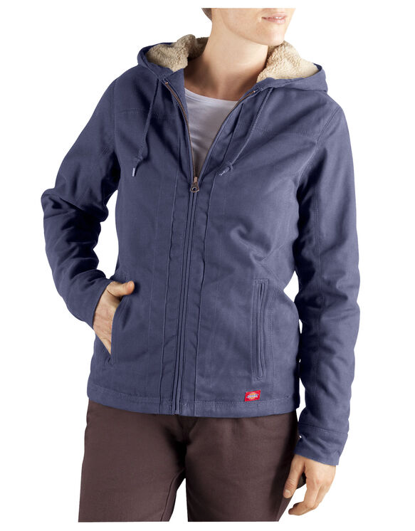 Women's Sanded Duck Hooded Jacket - SLATE BLUE (LU)