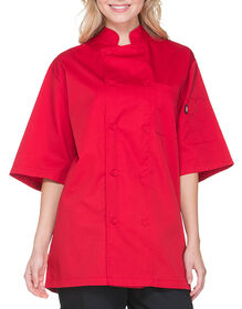 Unisex Cool Breeze Short Sleeve Chef Coat - RED (RD)