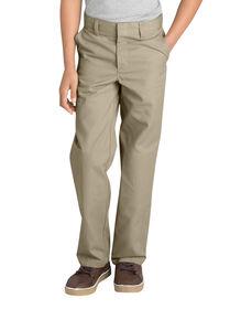 Boys' FlexWaist® Flat Front Pant with Logo, 8-20 - KHAKI (KH)