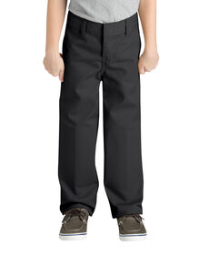 Boys' FlexWaist® Classic Fit Straight Leg Flat Front Pant, 4-7 - BLACK (BK)