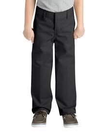 Boys' Classic Fit Straight Leg Flat Front Pant, 4-7 - BLACK (BK)